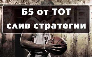Стратегия Б5 от Тот самый капер: полное описание с примерами ставок на баскетбол